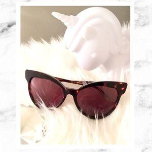 Wildfox Grand Dame Cat Eye Sunglasses Tortoise